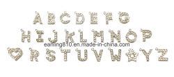 Letra inglesa Encantos de metal con cristal de la moda de Rhinestones Giftware