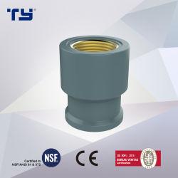 Accoppiamento d'ottone femminile di Socker del BACCANO NBR5648 standard dell'accessorio per tubi di pressione del rifornimento idrico del PVC