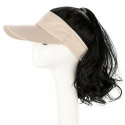 도매 Wig 심리스 Wig 긴 곱슬머리를 모자 로 염색한다