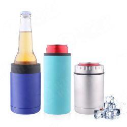Acier inoxydable 12oz le manchon à isolation sous vide à double paroi Porte boissons bouteille d'eau Glitter noir Skinny peut refroidisseur pour Slim de la Bière et boissons