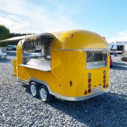 Nueva concesión Stand Tráiler Mini Mobile diseño de coche comedor cocina freidora coche comedor de compra