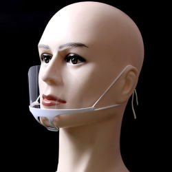601 Tampa de face Restaurante Anti-Fog película de plástico transparente da tampa da boca de Higiene Máscara facial