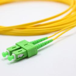 درجة جودة الضوء في OMC درجة SM G652D متر م م م م م م درجة الماجستير في الإدارة العامة لسكة سلك توصيل ألياف بصرية SX 2.0 APC