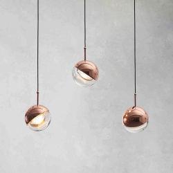 현대 부엌 천장 거는 램프 정착물 철 아크릴 유리 펜던트 빛
