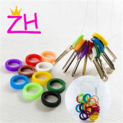 Gelegentlicher Colorkey Ring-Silikon-Deckel-Schlüssel-Halter Keychains hohle Deckel-Hülsen-Ring-Schlüsselring-Schutzkappen-Deckel-Silikon-Schlüssel-Deckel