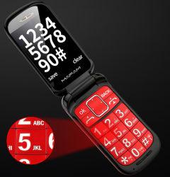 OEM 브랜드 대형 배터리 크기 2.4인치 2g GSM 고정 노인과 노인과 노인과 함께 사용할 수 있는 무선 접이식 기능이 있는 휴대폰 홈 폰 사람
