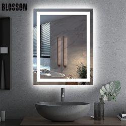 الحمام مرآة الزينة المضاءة بمصابيح LED مضاءة ذكية بمرآة الزينة المثبتة على الحائط