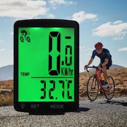 L'écran de grande taille sans fil Ordinateur de vélo Cyclisme du compteur kilométrique de tachymètre de rétroéclairage étanche chronomètre Ordinateur de vélo