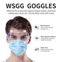 PPE Wsgg 의료 기기 반대로 Aliva 바이러스 시력 보호 광학적인 안전 유리