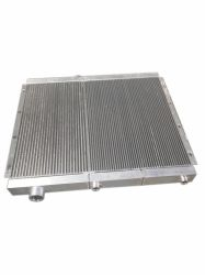 Enfriador de aceite de aire compresor de tornillo de la placa de la barra de intercambiador de calor