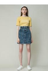 Zomer Nieuw gewassen Jeans katoen nieuwe stijl Custom Bud High Taille Straight Tube rok voor meisjes vrouwen dagelijks dragen