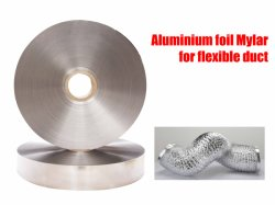 Les conduits de ventilation flexible en plastique souple du conduit d'aluminium