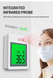Termómetro de infravermelhos montada na parede com Sensor de temperatura inteligente
