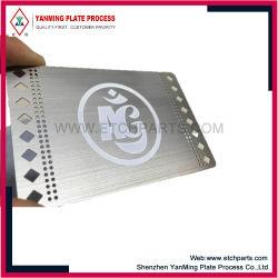 RFID/PVC/ID/PET/종이/플라스틱/스마트 RFID/멤버십/선물/선불형/자기 스트립/게임 시스템 고급 레이저 컷 스테인리스 스틸 MBrushed Metal 명함 이름을 지정합니다