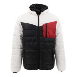 Tecla de inverno Trabalho Shell Estilo Tecido Ultra Light Puffer roupas confortáveis homens estabelece Office Camisa Superior para adultos piscina para motociclo personalizado Zipper roupas