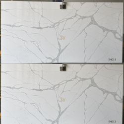 Kunstmatig Grijs/Snow/Calacatta/Cararra Wit Kwarts Slabs/Tiles voor Techniek Kitchen/Bathroom/Hotel/Garden (B4013)