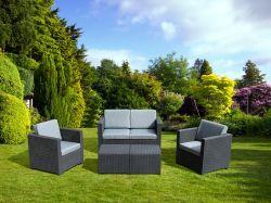 La mobilia di vimini esterna del patio del Lounger del sofà del rattan delle 6 parti ha impostato con il tavolino da salotto