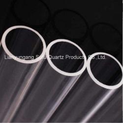 Resistente a altas temperaturas do tubo de quartzo opaco o tubo de quartzo de alta pressão Limpar o tubo de quartzo