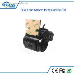 Weitwinkeldoppelobjektiv-vordere und rückseitige Ansicht in Auto CCTV-Taxi Ahd Überwachungskamera
