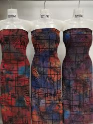 Горячая продажа полиэстер спандекс DTY один Джерси щетки трикотаж печатаются по пошиву одежды ткань
