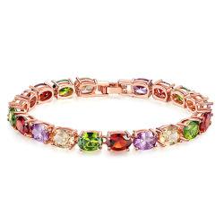 Chic et élégant de zircon Flash Diamond sept Bracelet Zircon couleur