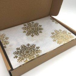 チィッシュペーパーを包むカスタムサイズまたはロゴの金印刷された包装紙のクラフト