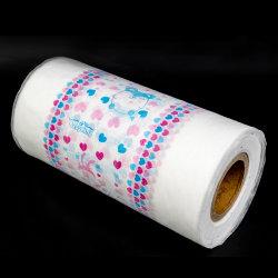ورقة خلفية من الحفاضات ورقة خلفية لفافة مورقة PE لـ فيلم PE المستدقة للأطفال