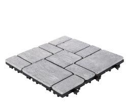 Material robusto Eye-Catching Anti-Scratch seguras y saludables al aire libre cubierta de piedra mosaico Water-Proof