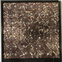 تصميم جديد من الألومنيوم سداسي الشكل مزيج من لون الفيسفساء بلاط لحمام الجدار