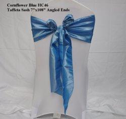 Cornflower-blaue Taft-Stuhl-Schärpe-Chamäleon-Schärpe-Gleichheit, die Bankett-Dekoration Wedding ist