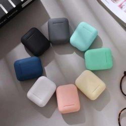 I12 TWS draadloze hoofdtelefoon Bluetooth 5.0-oortelefoon, matte Macaron-oordopjes Handsfree headset met microfoonoplaadbox voor alle telefoons