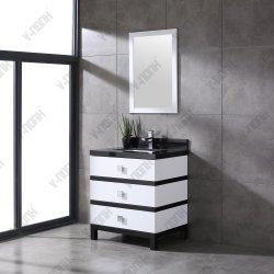 Simple en bois massif moderne salle de bains avec tous les tiroirs
