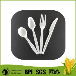 Lama a gettare biodegradabile di plastica 6.5inch del cucchiaio della forcella della coltelleria dell'amido di granturco di Cpla