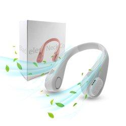 핫 세일 미니 휴대용 Hanging Neckband 팬 USB Leaf(Leaf(Leaf(엽) 없음) 목 팬 쿨러 충전식