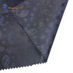 Haut de la qualité taffetas de polyester 220t de mise en relief le logo du tissu de doublure textile