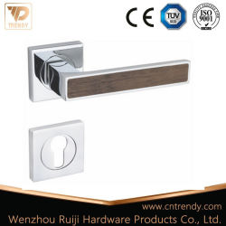 Finition bois Chrome Poignée du levier de porte avec verrou du couvercle (Z6226-ZR13)