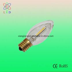 Vintage Lámparas LED C9 E17, la clásica de la base de LED C7 de filamentos de bombillas de luz de velas