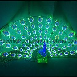 LED de iluminación dinámica Peacock gran novedad de las luces de la decoración del parque al aire libre