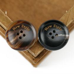 새로운 스타일의 서클 핫 세일즈 맞춤형 폴리에스테르/레진/메탈 봉제 On/Hole 셔츠 버튼, 메탈 버튼, DIS 플라스틱 버튼 제조업체(PB80018)