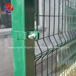 Quadrat/runder/Pfirsich-Vierecks-Pfosten geschweißter Maschendraht-Zaun