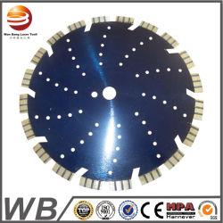 Multi-Hole silencieux Turbo vierge segments soudés au laser Découpe de pierre de diamant de lame de scie circulaire