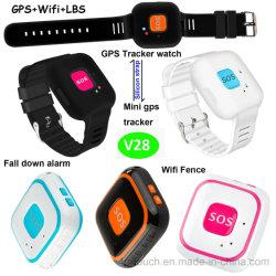 Les enfants Mini appareil de localisation GPS avec sangle de silicium V28