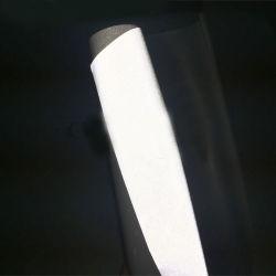 Transfert réfléchissant noir vinyle avec doublure adhésive pour vêtements de sécurité