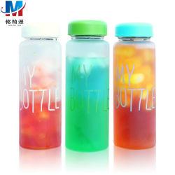 Nuova bottiglia di acqua di plastica sveglia coreana portatile di stile 500ml con il coperchio con la corda
