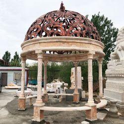 El tallado de piedra de mármol Sculpture Garden Gazebo para exteriores