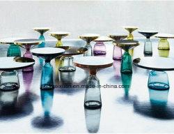 Pequena mesa de chá Chá de vidro interior Design Nórdico tabela Tabela Sino mobiliário personalizado de PRFV (M-X3741)