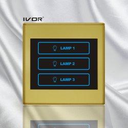 3 Interruptor táctil de la iluminación de las bandas de marco de plástico (SK-T2300L3).