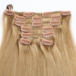 Верхняя Продажа 100% волос человека продление Strong прибора Clip в расширений волос шелковистой прямой двух многослойных Strong Weft волос