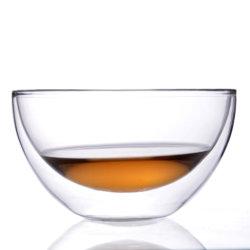 Ab6c7c4 China comercio artesanal de aseguramiento de vidrio de doble pared tazón de té
