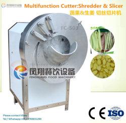 Корня имбиря овощей ломтиками нож для шинковки машины, используя резательное оборудование для шинковки (FC-503)